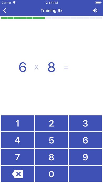 Multiplication Table. Axiom screenshot three