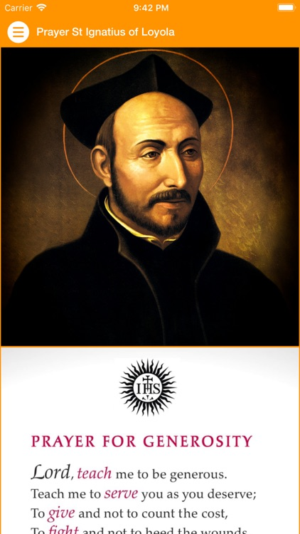 Prayer St Ignatius of Loyola