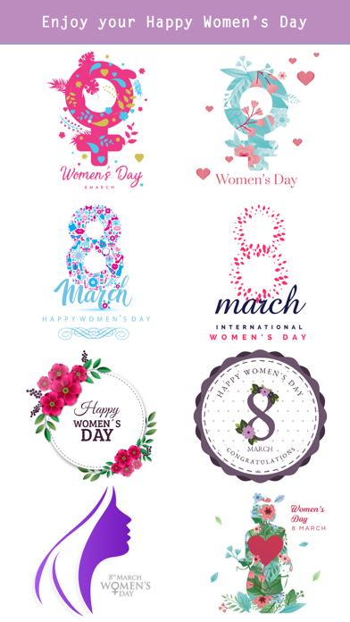 Happy Women's Day Stickers Set screenshot 4