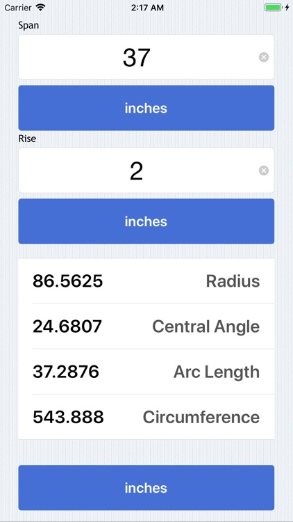 Radius Calculator