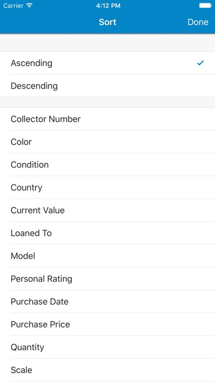 Toy Car Collector Database