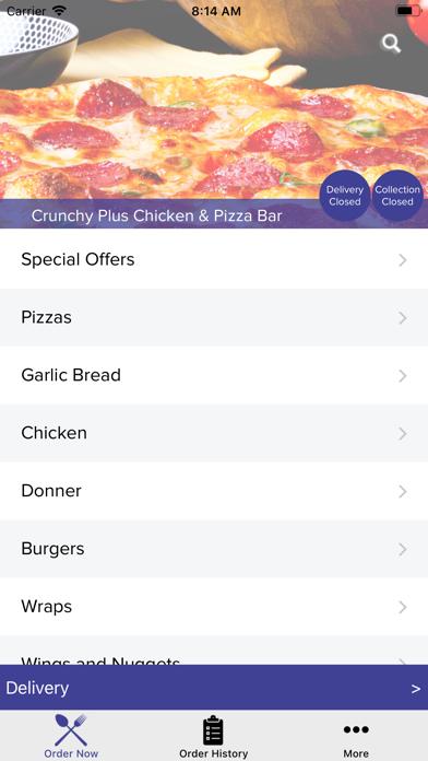 Crunchy Plus Chicken & Pizza screenshot two