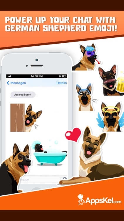 German Shepherd Emoji Sticker