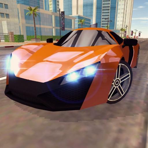 Гонка быстрых машин в городе