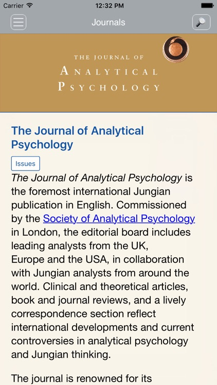 Jrnl of Analytical Psychology screenshot-1