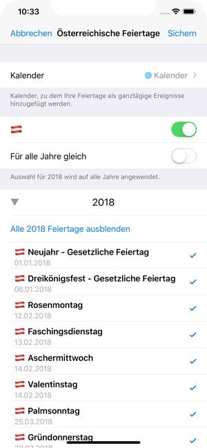 Feiertage 2019 Im App Store