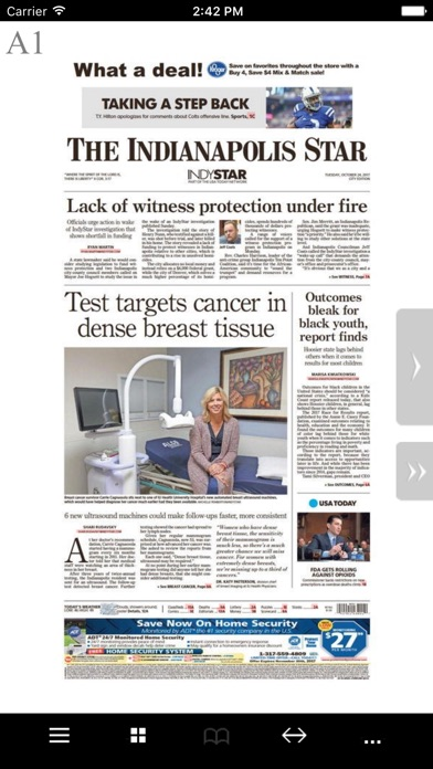 The Indianapolis Star Print Screenshot on iOS