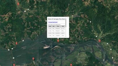 Washington Tide Tables Weather Screenshot