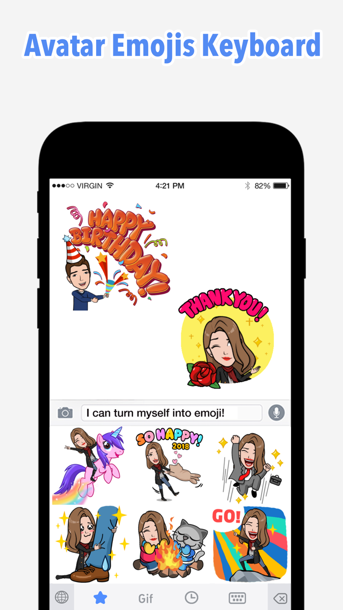 Emoji Me Keyboard | Zmoji Screenshot