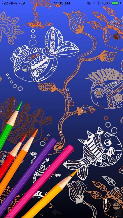 Coloring Game Book sea animals screenshot-4