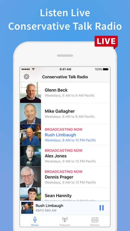 Conservative Talk Radio Plus screenshot-0