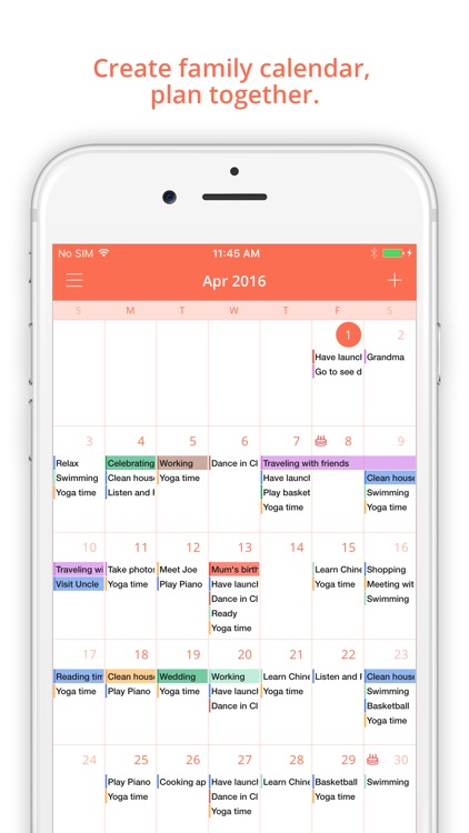 FamCal: Shared Family Calendar