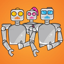 Robot Family Stickers