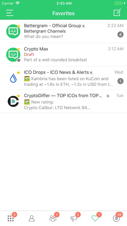 Bettergram - Crypto Chat App screenshot-4