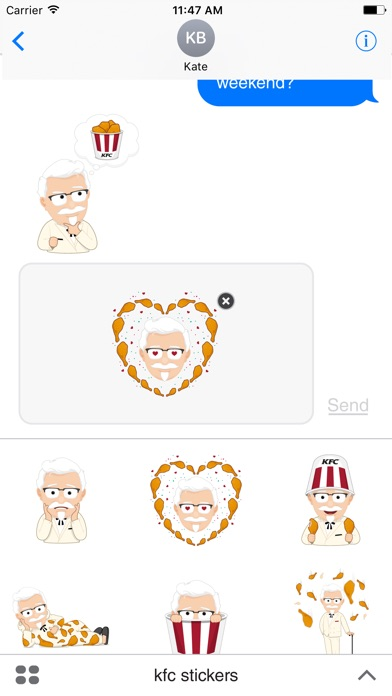 KFC Stickers - by KENTUCKY FRIED CHICKEN PTY LTD - Category