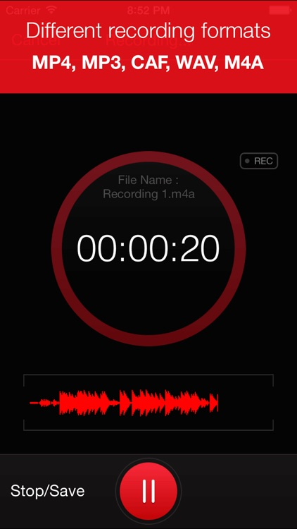 Recorder Plus : Voice Recorder screenshot-1