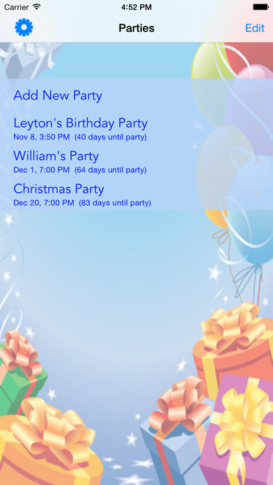 iParty screenshot one