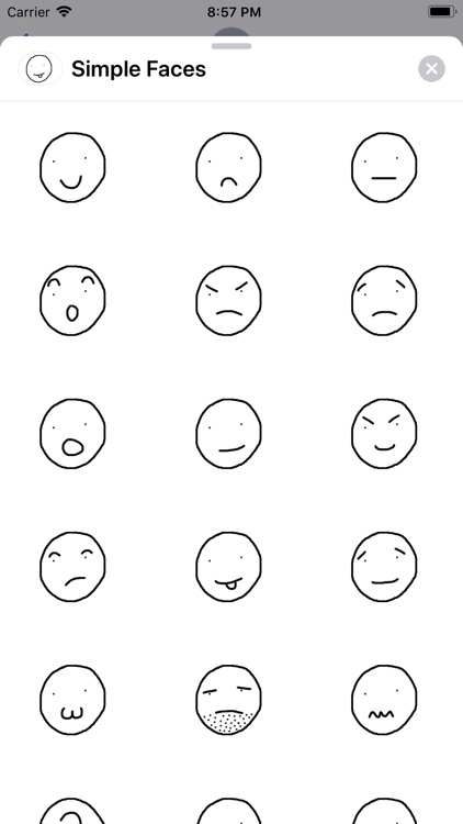 Simple Faces Sticker Pack