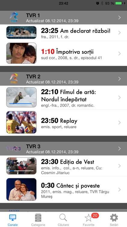 Romanian TV Schedule