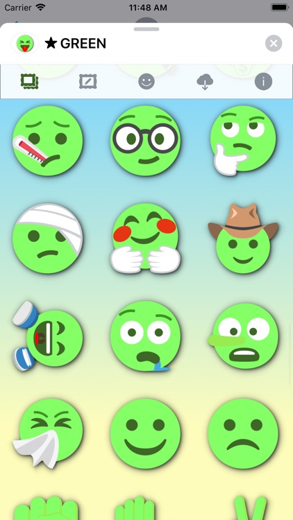 GREEN Emoji • Stickers screenshot-8