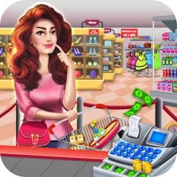 Supermarket Girl Cash Register