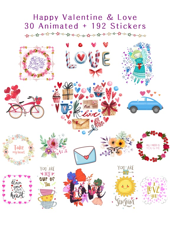 Happy Love Stickers - Animated screenshot 6