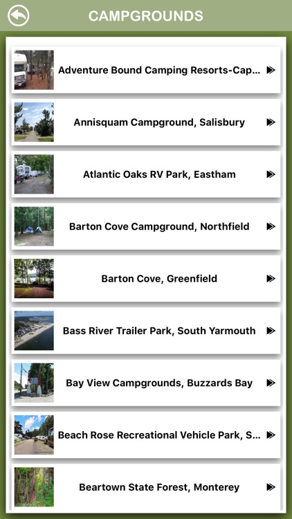 Massachusetts Campgrounds Info screenshot-2