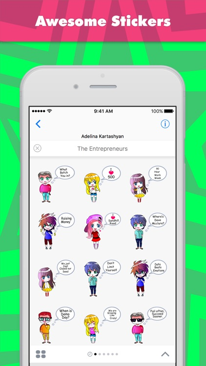 The Entrepreneurs stickers by Ada