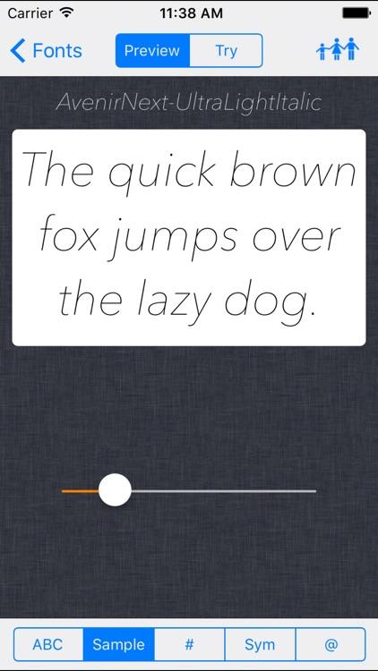 Font preview tool for desing. screenshot-3
