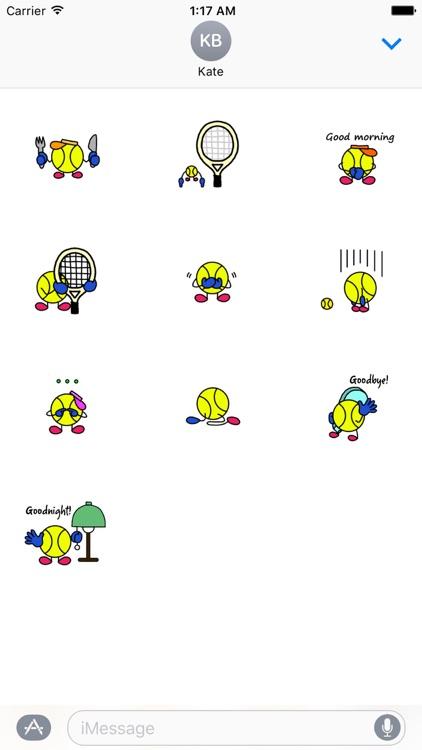 TennisMoji - Tennis Emoji Sticker