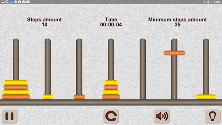 The Tower of Hanoi Math puzzle screenshot-4