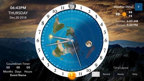 Screenshot #1 for Flat Earth Sun & Moon Clock