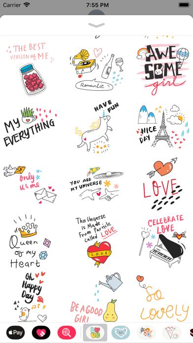 Doodle Valentine's Day Sticker screenshot 3