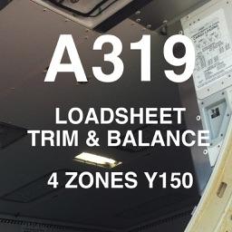 A319 LOADSHEET T&B 150 4z PAX