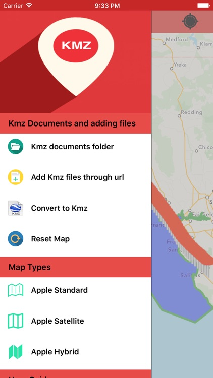 Kmz Viewer-Kmz Converter app screenshot-0