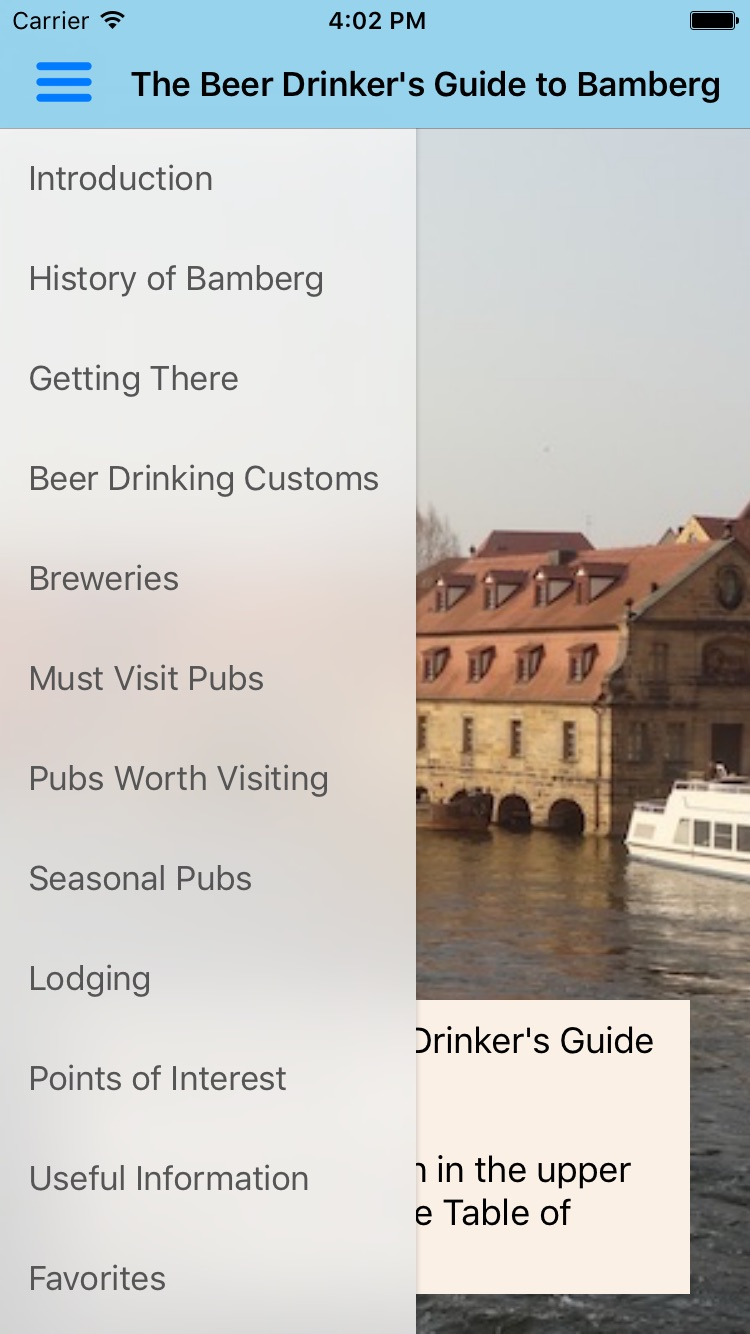 Bamberg Beer Guide Screenshot