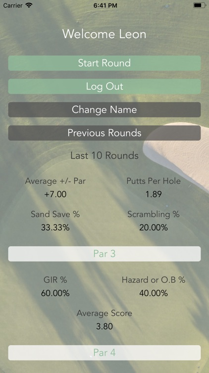 Golf Stat Caddy