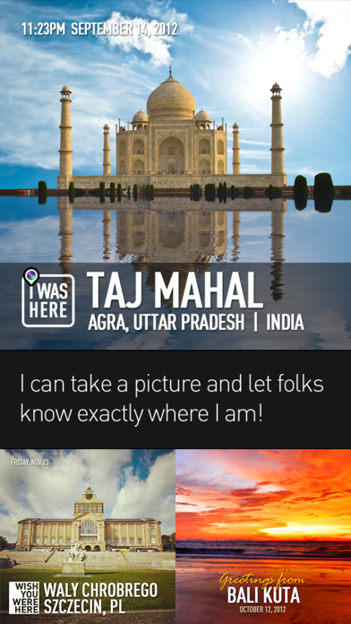 PhotoPlace - photo checkins app image