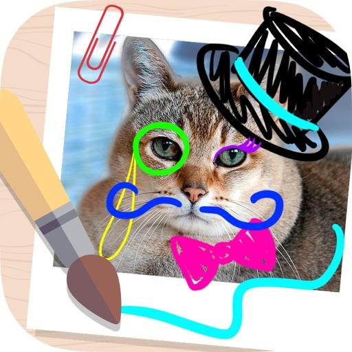 Paint and draw over photos iOS App