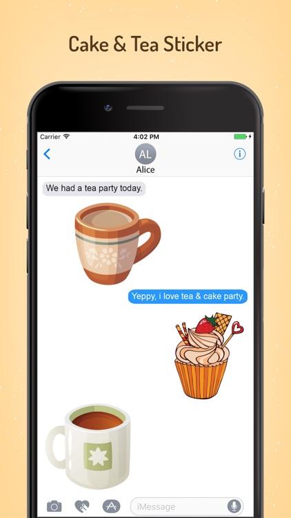 Appetizing Cake & Tea Stickers screenshot-3