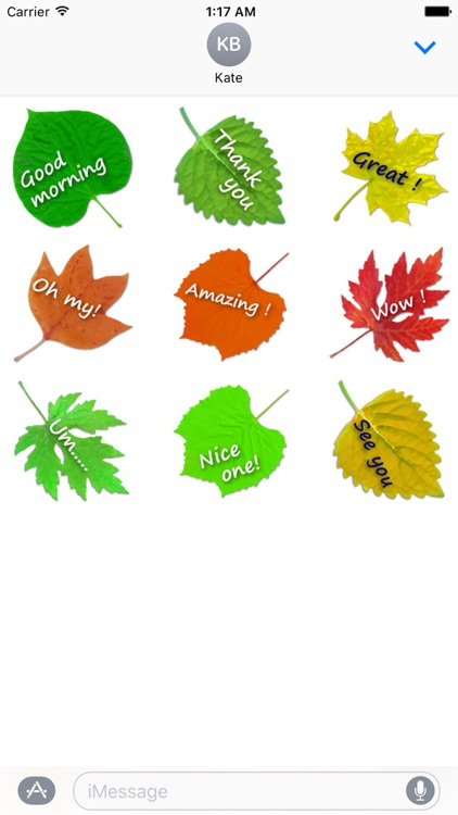 Messages On The Leaves Sticker