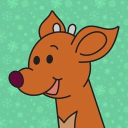 Raymond the Reindeer Stickers