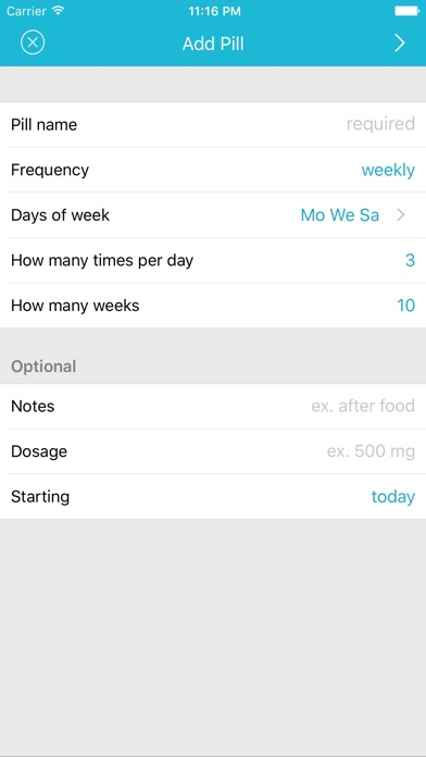 Screenshot for Easy Pill - medication tracker in South Africa App Store