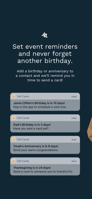 Felt Greeting Birthday Cards On The App Store