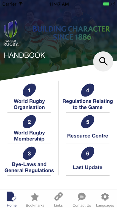 World Rugby Handbook screenshot one