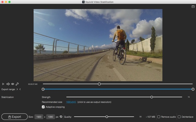 liquivid Video Stabilization Screenshot
