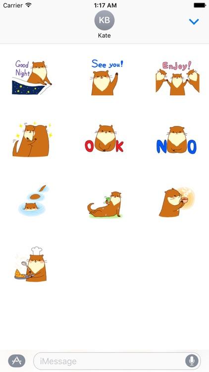Cute Otter - Ottermoji Sticker
