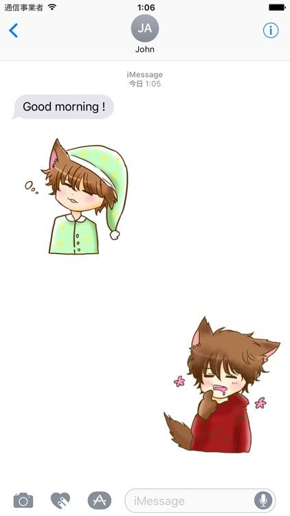 Kawaii Kemono Sticker screenshot-0