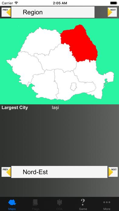 Romania Region Maps and Capitals screenshot four