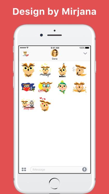 Owl's Emotions stickers by Mirjana Antonijevic